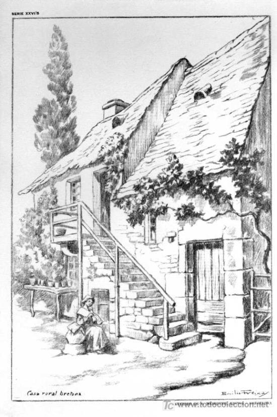 Lamina de emilio freixas serie xxvi n 5 ca comprar l minas antiguas en todocoleccion - Laminas de dibujo artistico ...