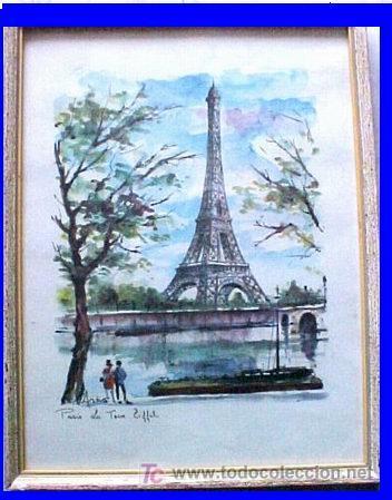 Par s torre eiffel comprar l minas antiguas en - Laminas antiguas para cuadros ...