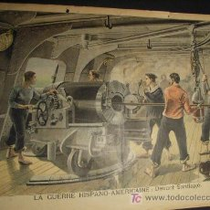Arte: MILITAR. GUERRA DE CUBA 1898. LOS YANQUIS DISPARANDO CONTRA LA CIUDAD DE SANTIAGO. PETIT JOURNAL. Lote 6465317