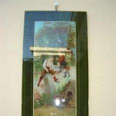 Arte: LAMINA ANTIGUA ,INFANTIL, Y CRISTAL. Lote 6600613