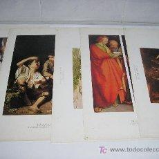 Arte: 5 LAMINAS 23 X 34 - VELAZQUEZ - MURILLO - DURERO- COURBET - CARAVAGGIO. Lote 19112359