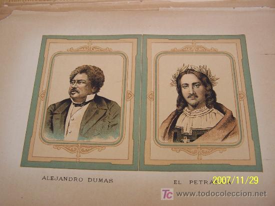 ALEJANDRO DUMAS Y EL PETRARCA - MIDE 20 X 29.5 CM. SIN FECHA- (Arte - Láminas Antiguas)