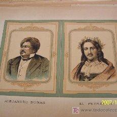 Arte: ALEJANDRO DUMAS Y EL PETRARCA - MIDE 20 X 29.5 CM. SIN FECHA- . Lote 22801245