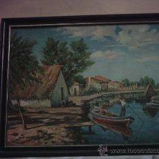 Arte: LAMINA BARRACA VALENCIANA EN EL PALMAR LA ALBUFERA (VALENCIA). Lote 26230433
