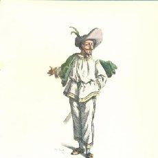 Arte: LAMINA IMPRESA .. TABARIN 1618 .. CON DESCRIPCIÓN AL REVERSO . Lote 16859571