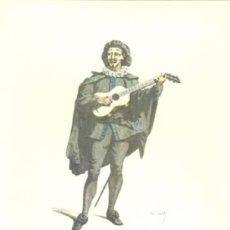Arte: LAMINA IMPRESA .. SCARAMUCCIA 1645 .. CON DESCRIPCIÓN AL REVERSO . Lote 17402724