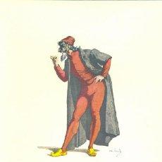 Arte: LAMINA IMPRESA .. PANTALONE 1550 .. CON DESCRIPCIÓN AL REVERSO . Lote 17546390