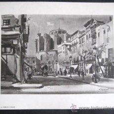 Arte: LAMINA FEDERICO LLOVERAS. BARCELONA. ENVIO GRATIS¡¡¡. Lote 8535494