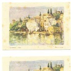 Arte: 2 LAMINAS .. LA PARRASSA PALMA .. DIBUJO DE SAAVAGEN. Lote 17985834