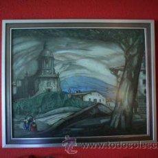 Arte: GRABADO DE GUSTAVO DE MAEZTU ANOCHECER DE IBARRA 1930 70X58. Lote 53118010