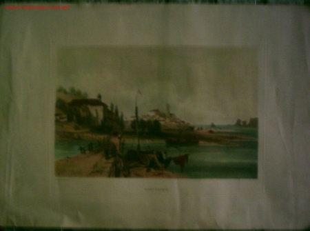 FUENTERABIA A. WILKINSON ESQ.ª DELT EL PAPEL CON RELIEVE IMITANDO A UN GRABADO (Arte - Láminas Antiguas)