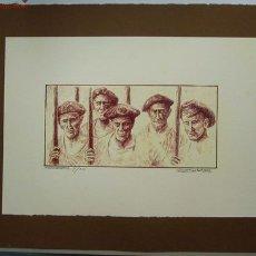 Arte: LAMINA ESCENA VASCA. LÁMINA OFFSET CON ESCENA DE PESCADORES. Lote 18652484