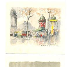 Arte: 2 LAMINAS DE FRESQUET. Lote 17789017