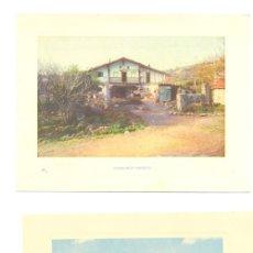 Arte: 4 LAMINAS VASCAS . LA CALZADAS BILBAO, LA RÍA DE BILBAO EN ERANDIO, CASERÍO VASCO, PESCADORES VASCOS. Lote 17809429