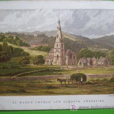 Arte: ST. MARY'S CHURCH AND SCHOOLS, AMBLESIDE. Lote 18013847