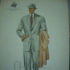 Arte: LAMINA DE MODA MASCULINA AÑO 1951 TAMAÑO 320X220 DIBUJA TUSELL RIBAS. Lote 10609640