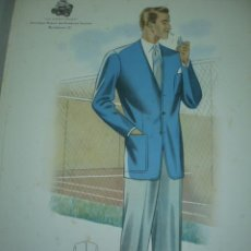 Arte: LAMINA DE MODA MASCULINA AÑO 1951 TAMAÑO 320X220 DIBUJA TUSELL CORZO. Lote 10609659