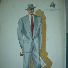 Arte: LAMINA DE MODA MASCULINA AÑO 1952 TAMAÑO 320X220 DIBUJA TUSELL RIBAS. Lote 10609681