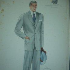 Arte: LAMINA DE MODA MASCULINA AÑO 1950 TAMAÑO 320X220 DIBUJA TUSELL RIBAS. Lote 10609718