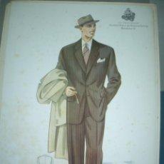 Arte: LAMINA DE MODA MASCULINA AÑO 1953 TAMAÑO 320X220 DIBUJA TUSELL RIBAS. Lote 10609722