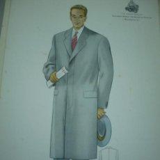 Arte: LAMINA DE MODA MASCULINA AÑO 1955 TAMAÑO 320X220 DIBUJA TUSELL RIBAS. Lote 10609725