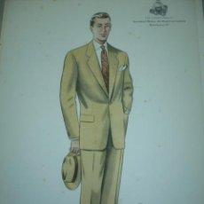 Arte: LAMINA DE MODA MASCULINA AÑO 1953 TAMAÑO 320X220 DIBUJA TUSELL RIBAS. Lote 10609732