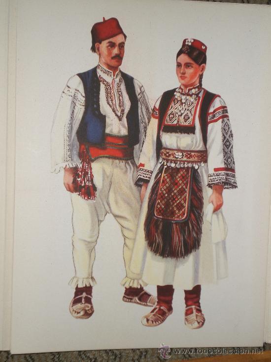 Arte: LÁMINAS DE INDUMENTARIA YUGOSLAVA, POR VLADIMIR KIRIN(CARPETA I: DALMACIA-BOSNA HERCEGOBINA) - Foto 4 - 27493046