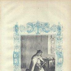 Arte: LÁMINA DE SANTA MAGDALENA DE PAZZIS, VIRGEN (SIGLO XIX). Lote 27162217