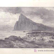 Arte: LAMINA - PEÑON DE GIBRALTAR (SIGLO XIX). Lote 27346891