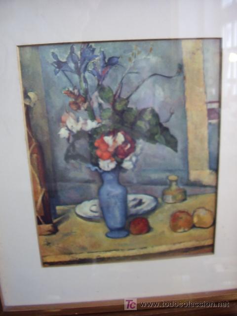 LAMINA ENMARCADA FLORES (Arte - Láminas Antiguas)