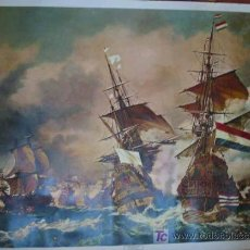 Arte: THE REDOUTABLE AGAINST THE VICTORY IN THE BATTLE OF TRAFALGAR - GEORGE CHAMBERS. Lote 12086020