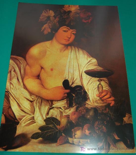 LAMINA REPRODUCCION - CARAVAGGIO- DIMENSION 39 X 23,5 - (Arte - Láminas Antiguas)