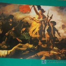 Arte: LAMINA REPRODUCCION - REVOLUCCION FRANCESA - EUGENE DELACROIX - DIMENSION 39 X 23,5 - . Lote 24847224