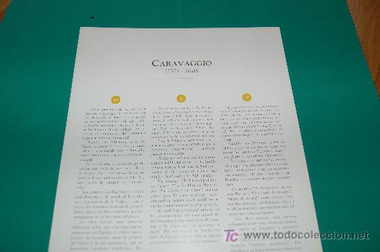 Arte: LAMINA REPRODUCCION - CARAVAGGIO- DIMENSION 39 x 23,5 - - Foto 2 - 24847210