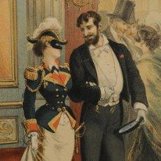 Arte: LOTE DE 4 LÁMINAS SOBRE LA HISTORIA DE UNA MUJER, FIRMADAS PLANAS AÑO 1878. Lote 12416227
