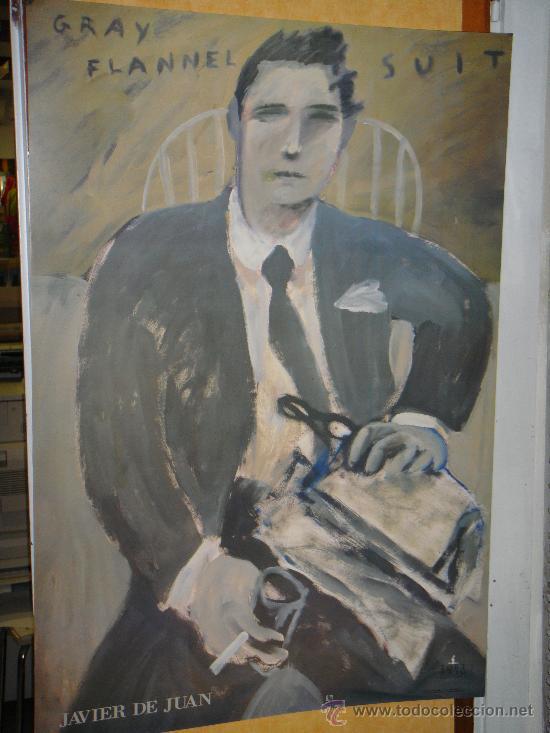 PORT SAID EDICIONES. CARTEL JAVIER DE JUAN: 'GRAY FLANNEL SUIT'. (Arte - Láminas Antiguas)