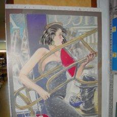 Arte: CARTEL JAVIER DE JUAN 'SI SEÑORITA ....'.. Lote 181001251