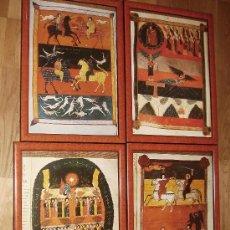 Arte: 4 CUADROS ENMARCADOS MUY BONITOS Y ALEGRES DE LÁMINAS DE STO TORIBIO DE LÍÉBANA (CANTABRIA. ). Lote 26949414