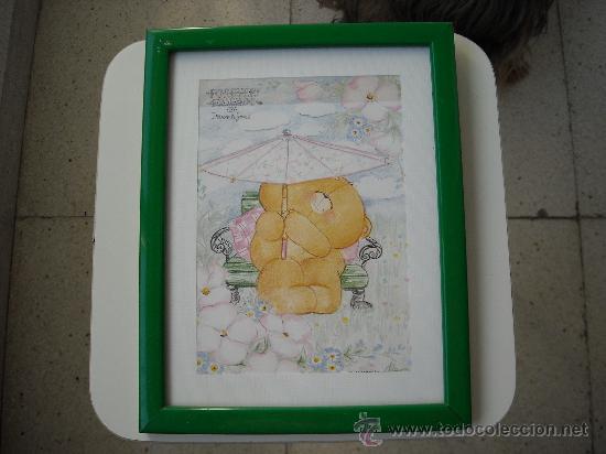 CUADRO INFANTIL DE OSITO (Arte - Láminas Antiguas)