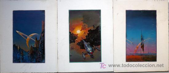 TRIPTICO- LAMINAS SUREALISTAS (Arte - Láminas Antiguas)