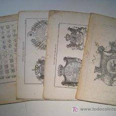 Arte: TRATADO COMPLETO DE LA CIENCIA DEL BLASON - LOTE 16 LAMINAS ILUSTRADAS. Lote 15445896