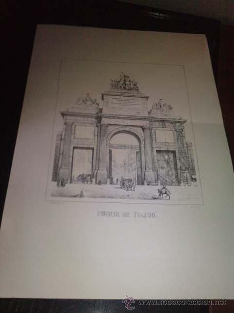 LAMINA PUERTA DE TOLEDO (Arte - Láminas Antiguas)