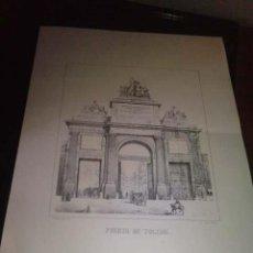 Arte: LAMINA PUERTA DE TOLEDO. Lote 27602543