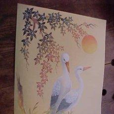 Arte: BONITA LAMINA CON MOTIVOS JAPONESES. AVES. TAMAÑO: 40 X 30,5 CM.. Lote 16081197