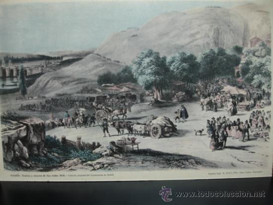 Antiguo lamina madrid pradera y romeria de comprar - Laminas y posters madrid ...