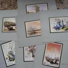 Arte: PINTURA,LOTE MUY INTERESANTE DE 7 LAMINAS,DE A.MAUGERI. Lote 24650317