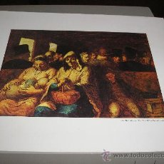 Arte: LAMINA DE DAUMIER - EL VAGON DE TERCERA - 33 X 27 CM.. Lote 25493739