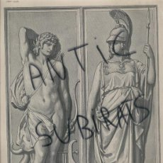 Arte: LAMINA FRANCESA. S. XIX. LE JOURNAL DE LA DECORATION.FRANCIA.PARIS.DIBUJO. 25 X 35 CM. . Lote 16939006