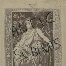 Arte: LAMINA ALEMANA. S. XIX. ALEMANIA.ELEGORIA DE AMERICA. STURM. 25 X 35 CM. . Lote 16939275