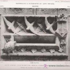 Arte: FOTOTIPIA ORIGINAL DE 1905. RELIEVE. BARCELONA. CASA DEL ARCEDIANO. LUIS DOMÉNECH I MUNTANER.. Lote 23593826